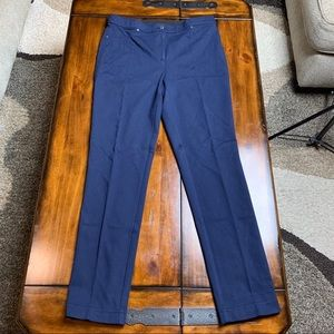CHICO'S Navy Knit Stretch Women's Pants Sz 1